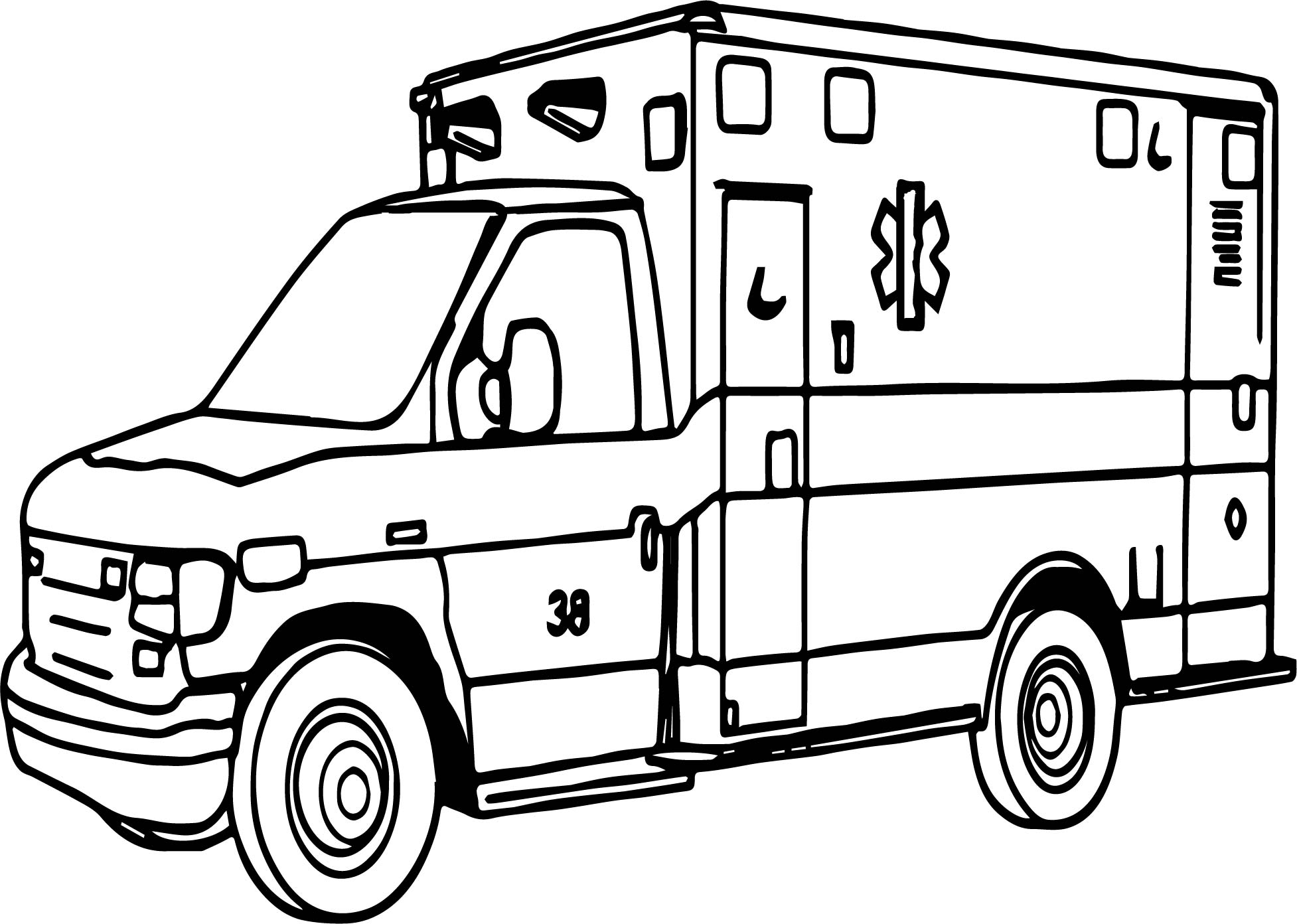 Important Ambulance Coloring Page Wecoloringpage Ambulance Colouring Pages