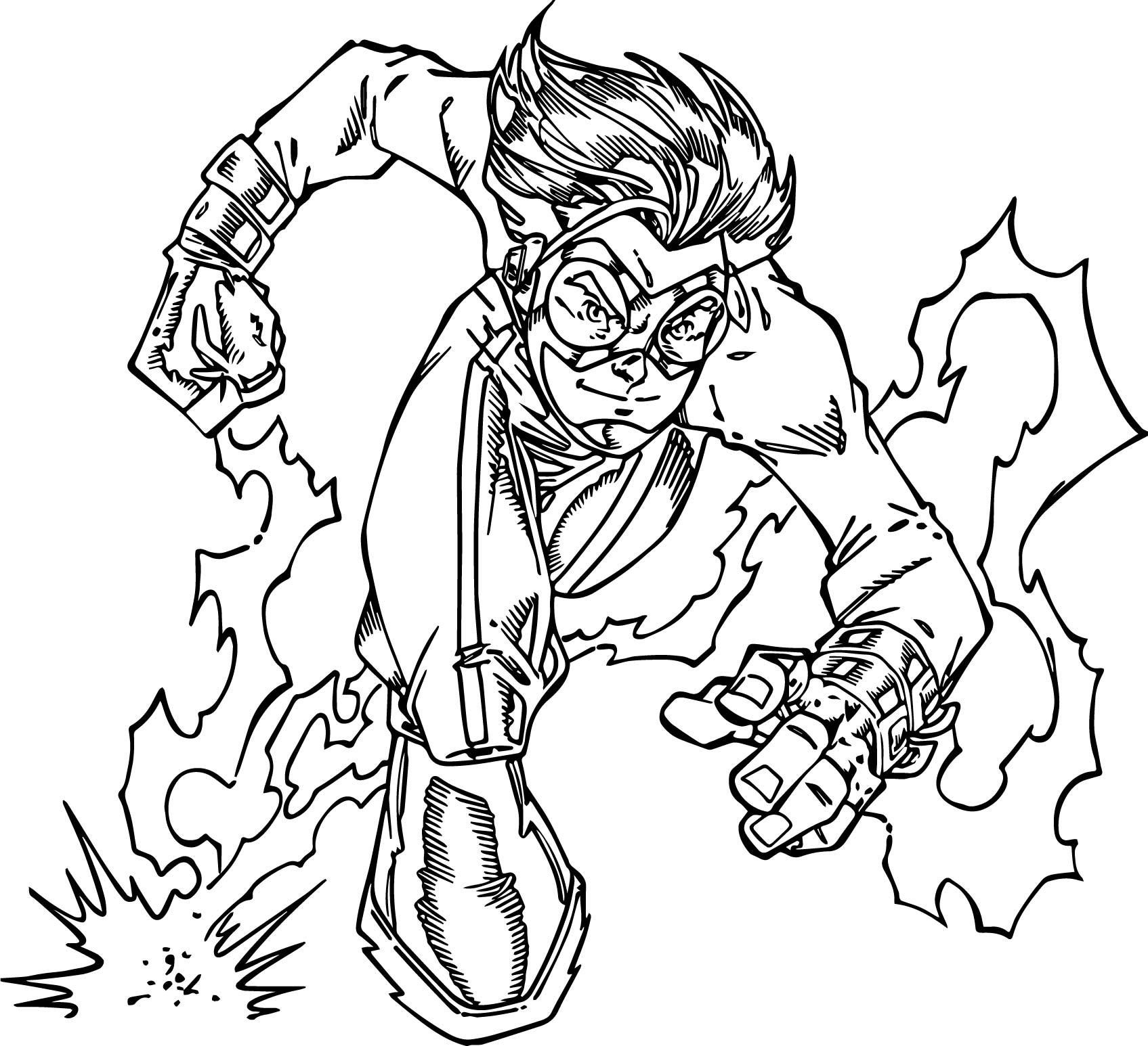 Impuls Cartoon Character Coloring Page