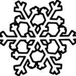 Interesting Snowflake Coloring Page