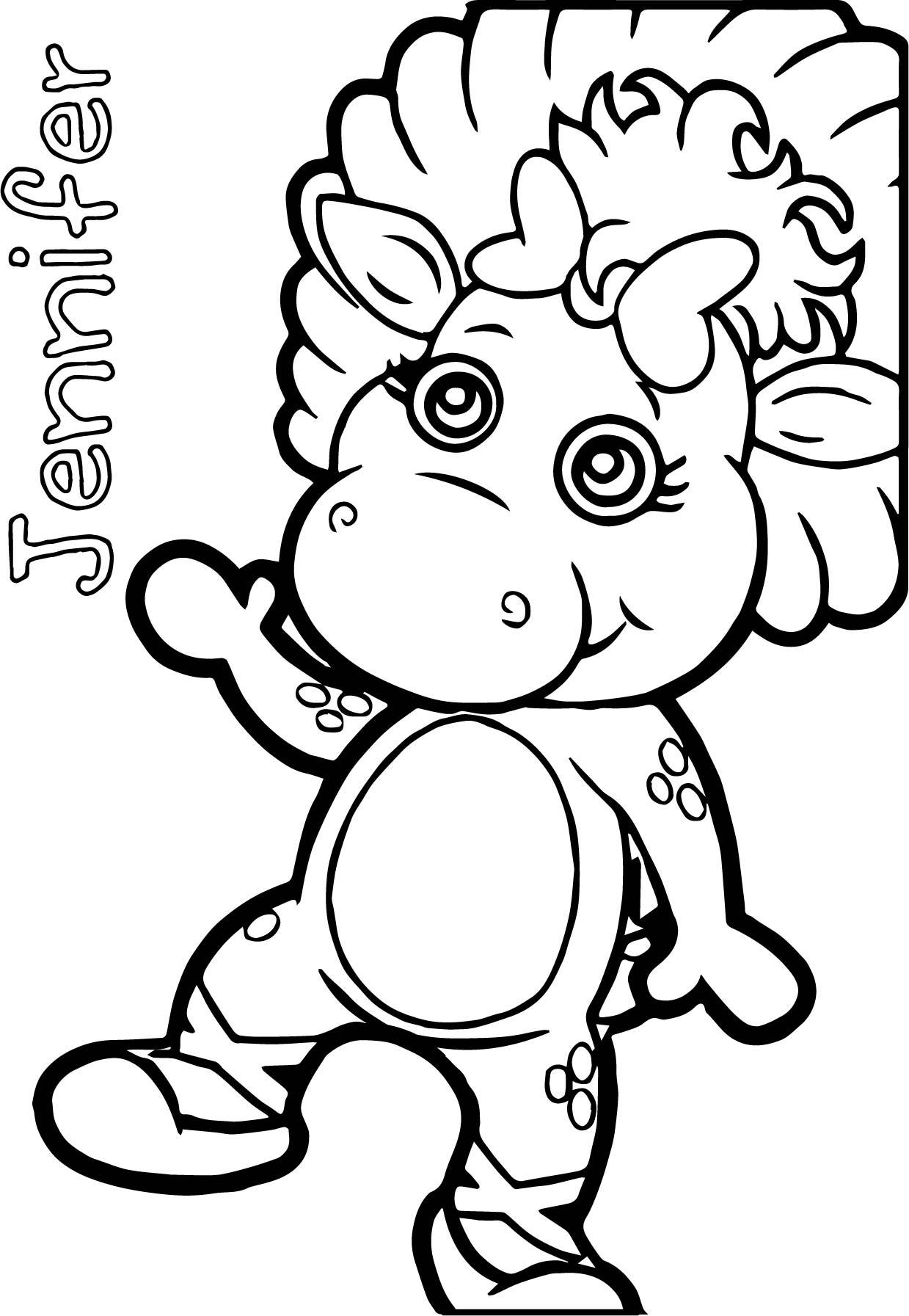 Jennifer Baby Bop Coloring Page