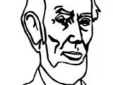Just Abraham Lincoln President Coloring Page