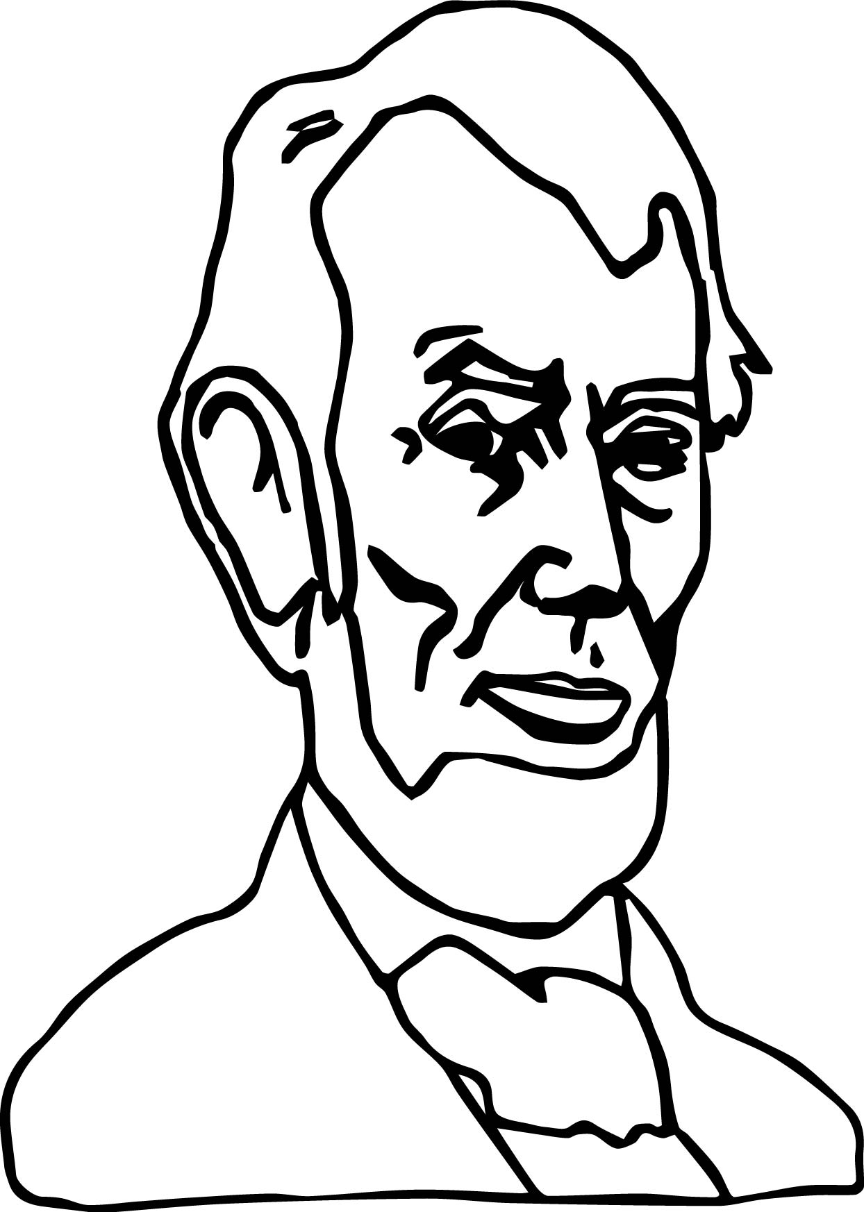 Just abraham lincoln president coloring page for Lincoln coloring pages