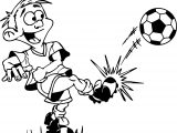 Kick A Ball Kids Playing Football Coloring Page