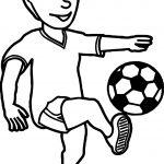 Kick Ball Boy Coloring Page