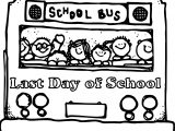 Last Day Of School Bus Coloring Page Wecoloringpage