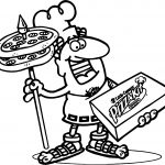Little Caesars Pizza Coloring Page
