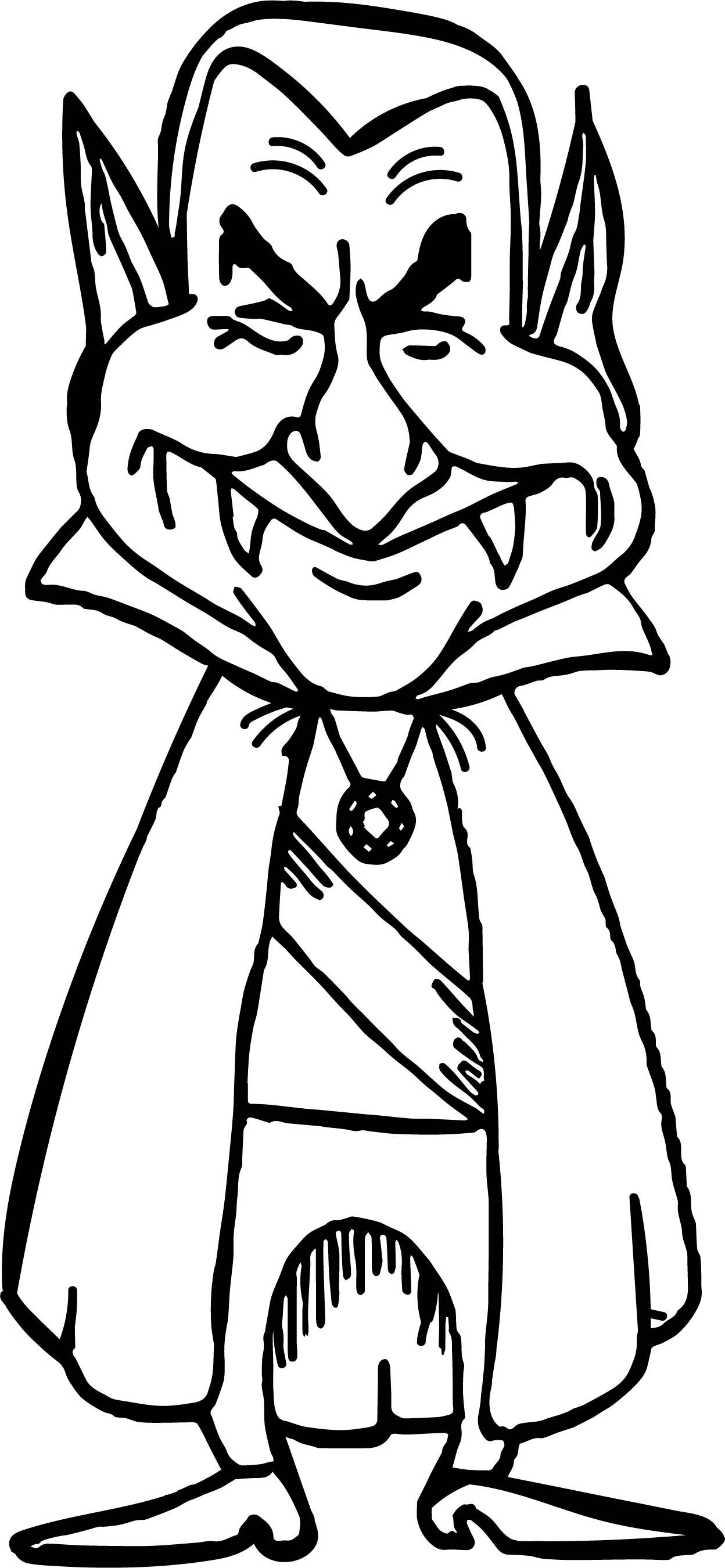 Man Vampire Coloring Page