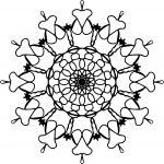 Mandala Coloring Orniment Coloring Page