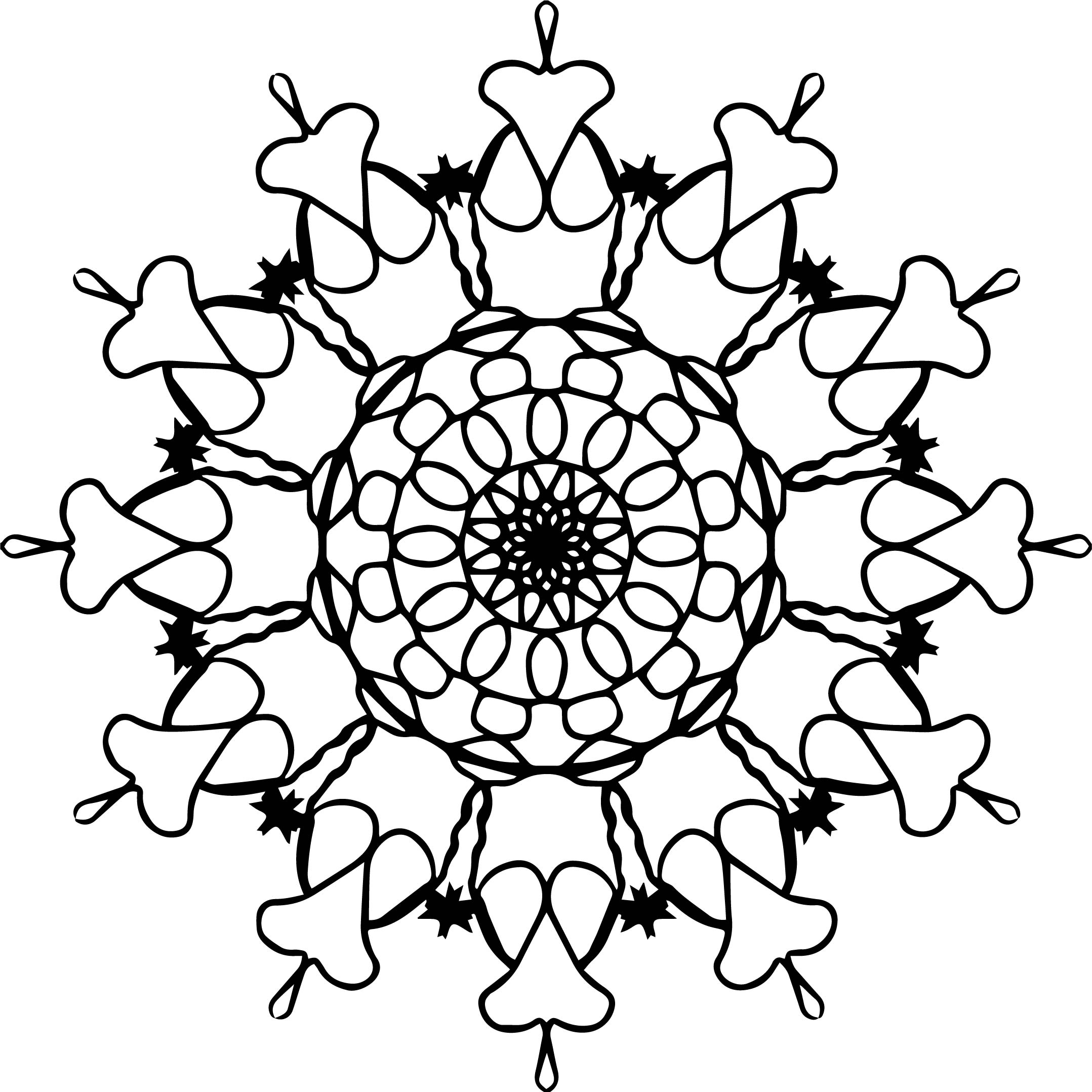 Mandala Coloring Orniment Coloring Page
