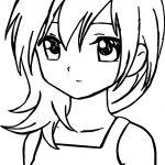 Manga Sad Girl Coloring Page