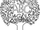 Math Abc Tree Borders Coloring Page