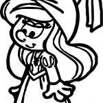 Medieval Princess Painting Smurf Smurfette Coloring Page