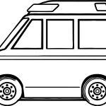 Mini Ambulance Coloring Page
