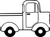 Minicab Truck Side View Coloring Page