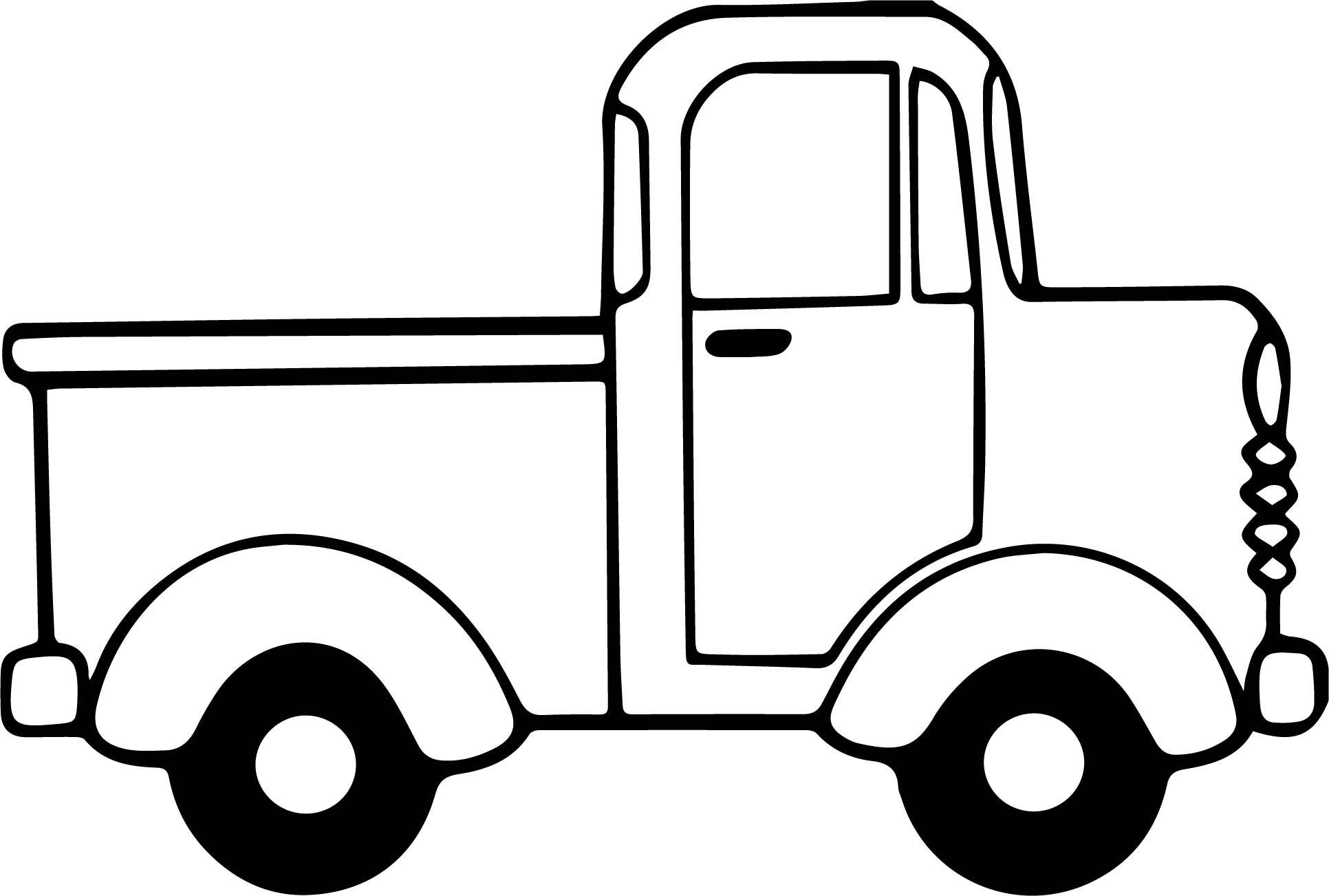 minicab truck side view coloring page. Black Bedroom Furniture Sets. Home Design Ideas