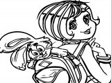 Monica And Bunny Coloring Page