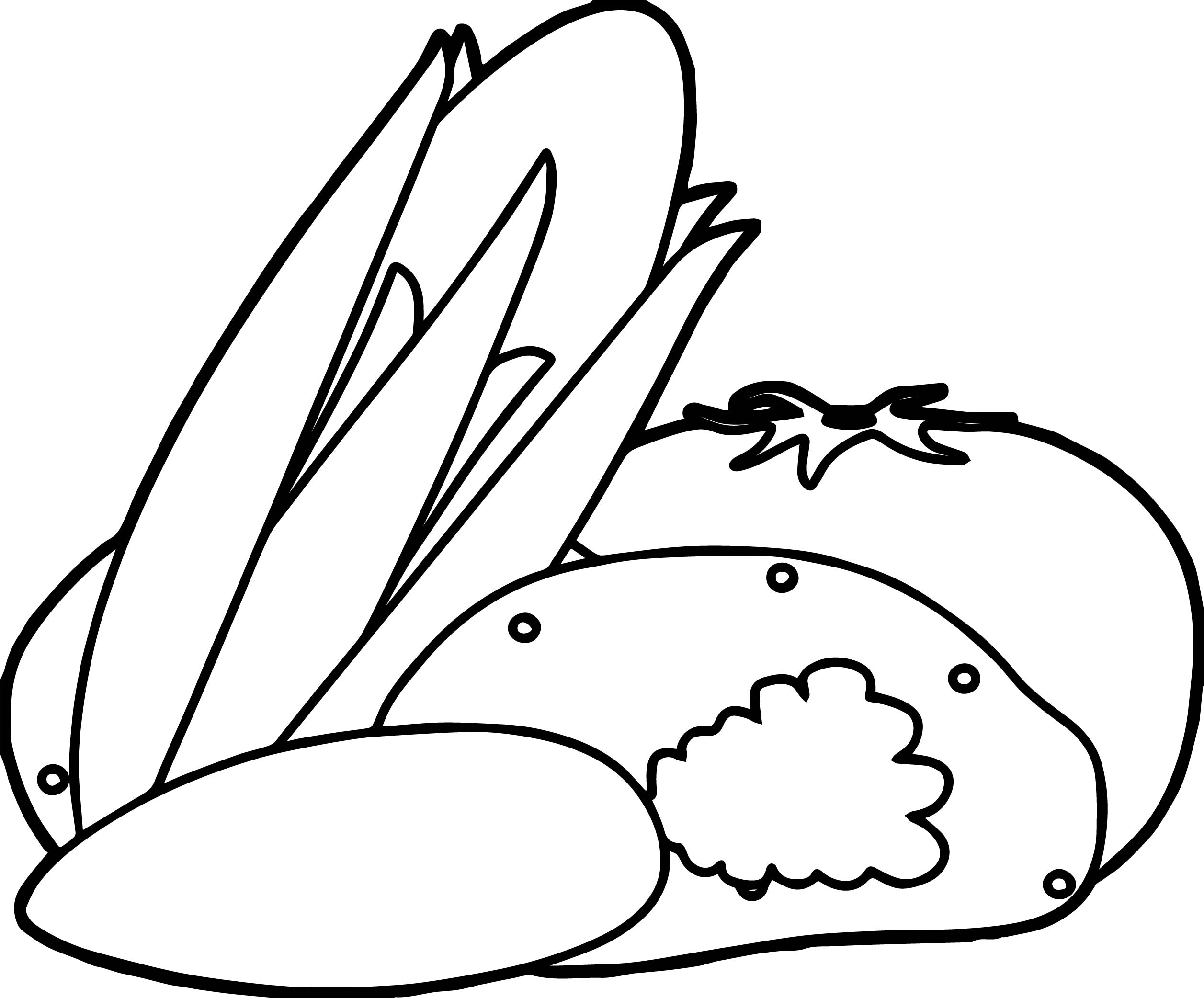Multiple Vegetable Coloring Page