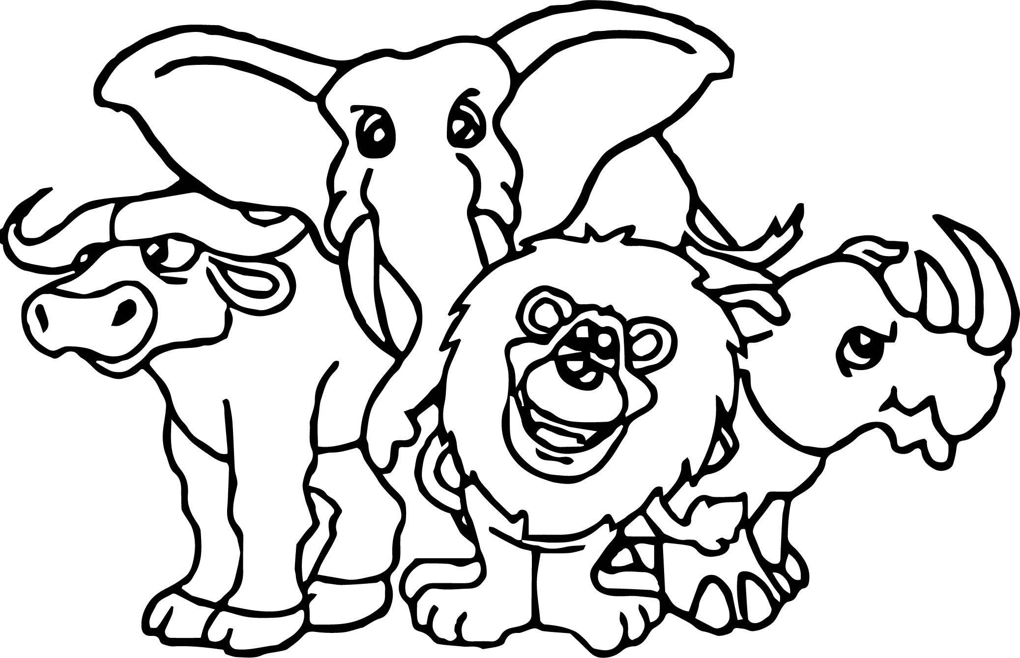 Namibia Animal Kingdom Animals Coloring Page