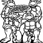 Ninja Turtle Eat Pizza Coloring Page