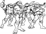 Ninja Turtles Cartoon Coloring Page
