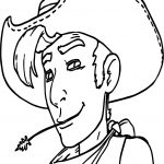 One Day One Cutie Lucky Luke Cowboy Coloring Page