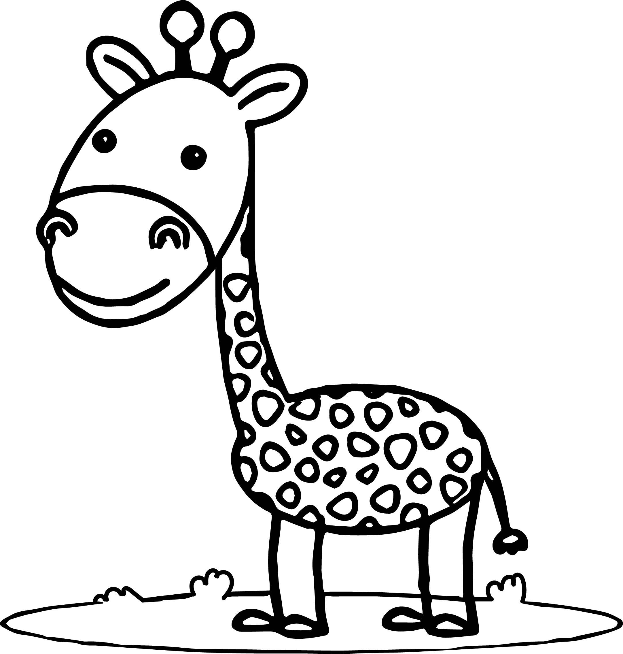 One Giraffe Coloring Page Wecoloringpage Com