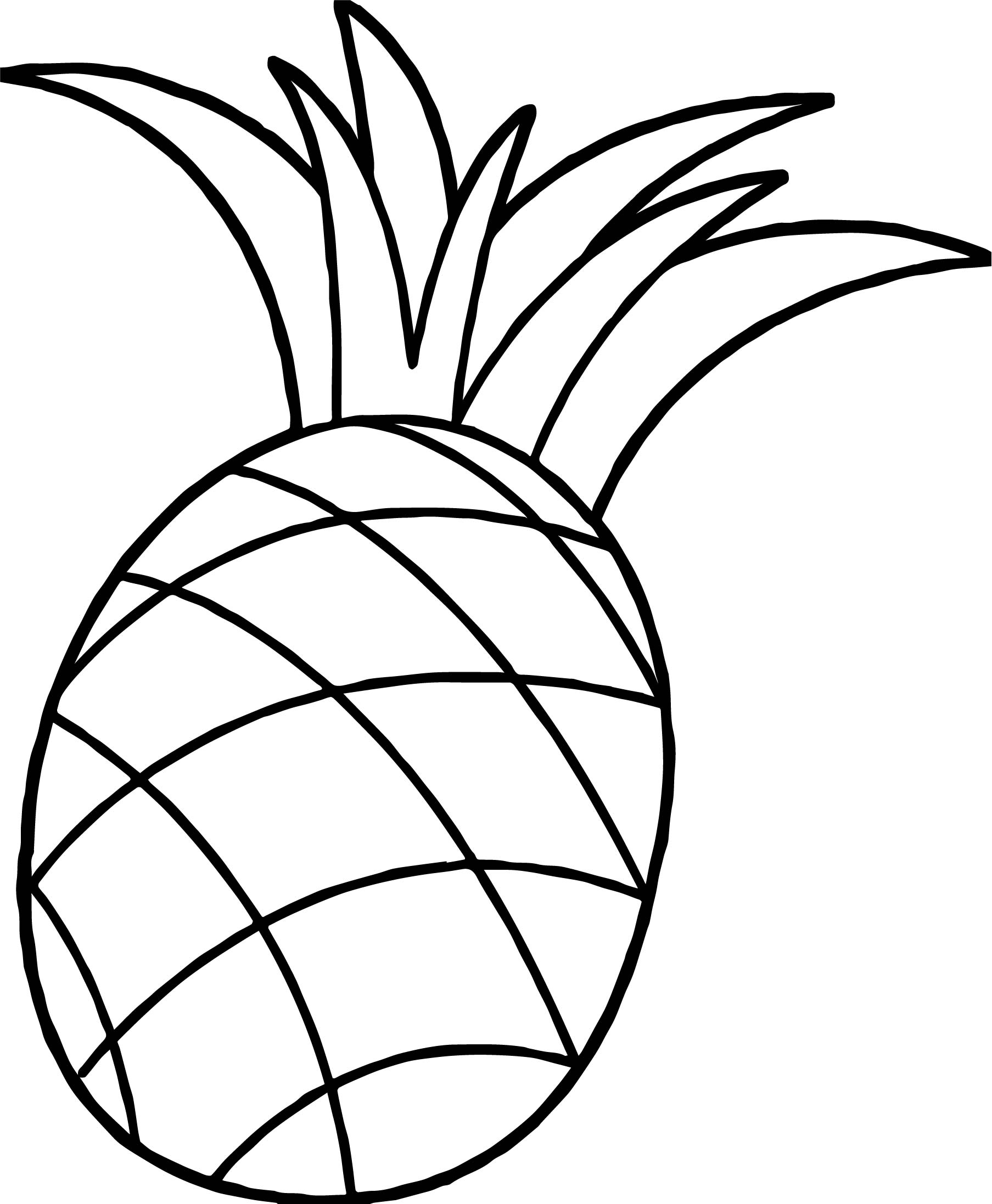 One Pineapple Coloring Page Wecoloringpage