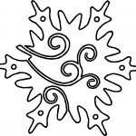 Orniment Snowflake Coloring Page