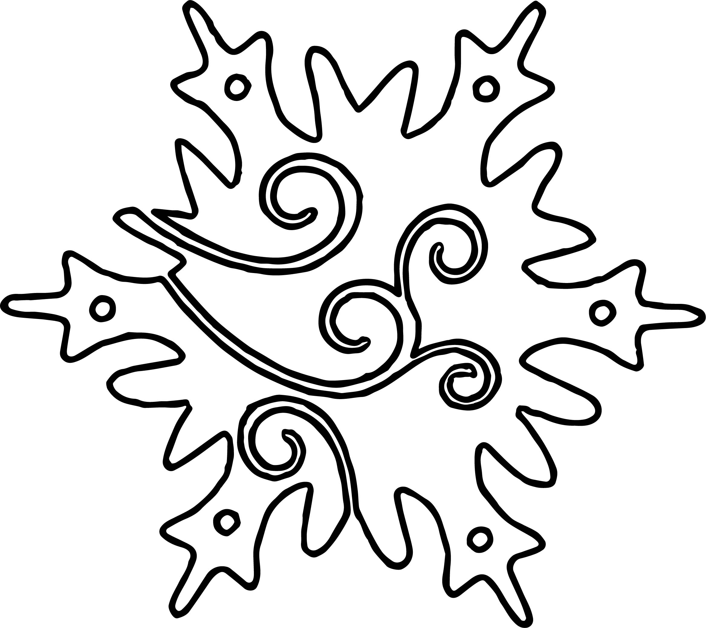 Orniment Snowflake Coloring Page | Wecoloringpage