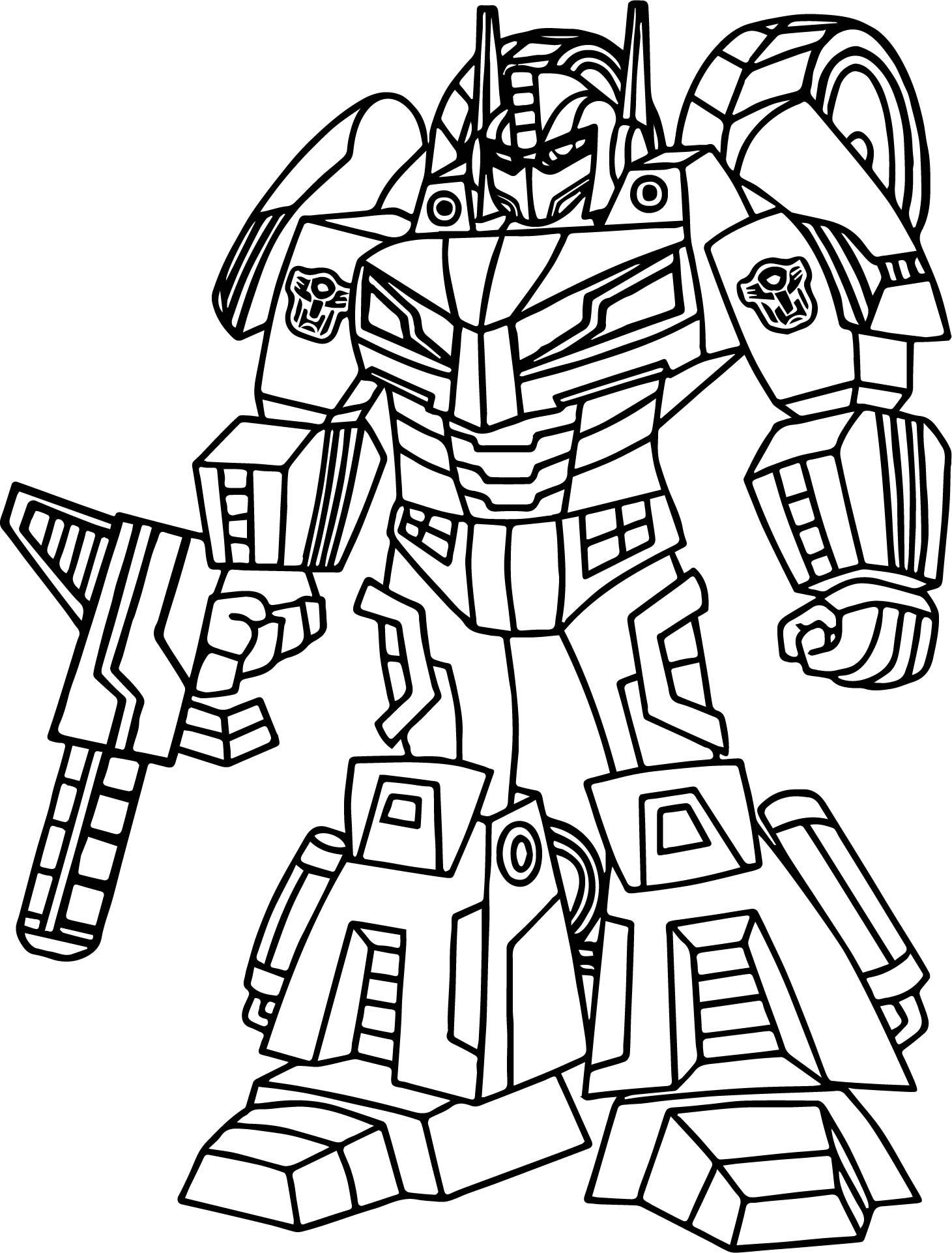 Outline Transformers Coloring Page Wecoloringpage