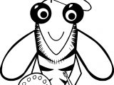Painter Bee Coloring Page