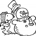 Peanuts Snoopy Winter Coloring Page