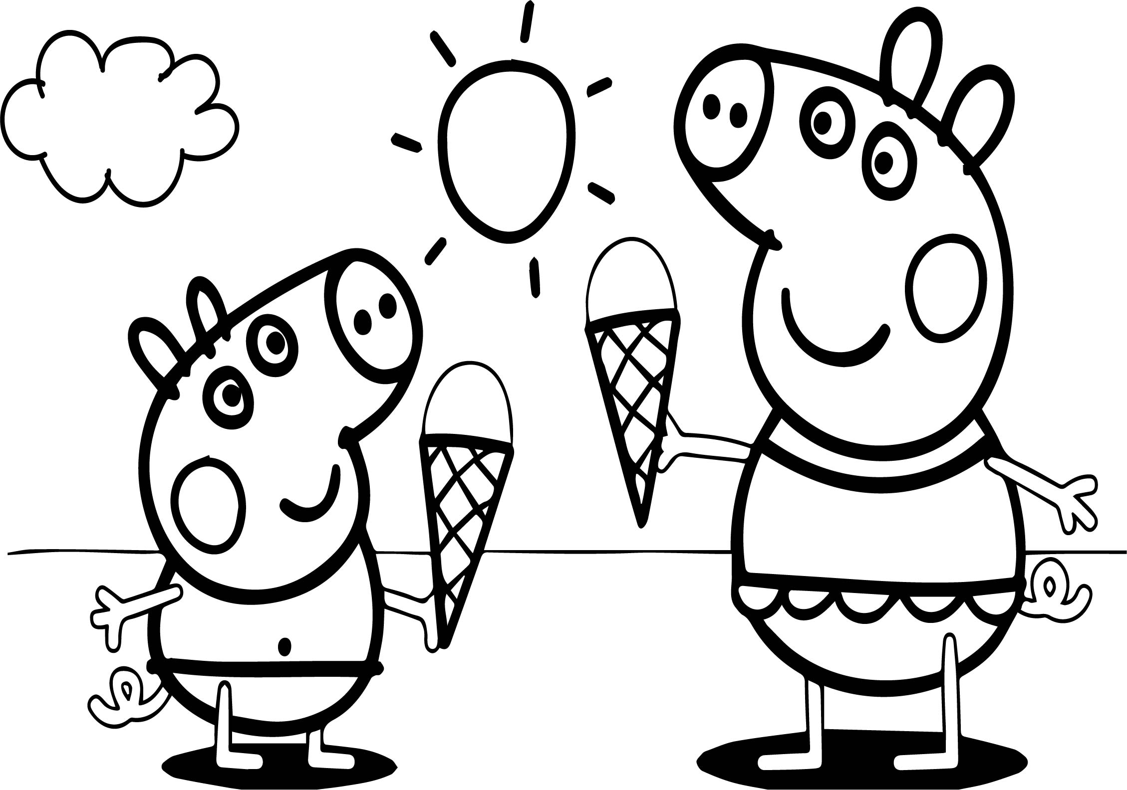 Peppa pig video free coloring page for Coloring pages peppa pig