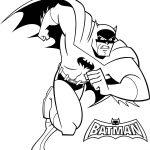 Perfect Batman Heroes Run Coloring Page