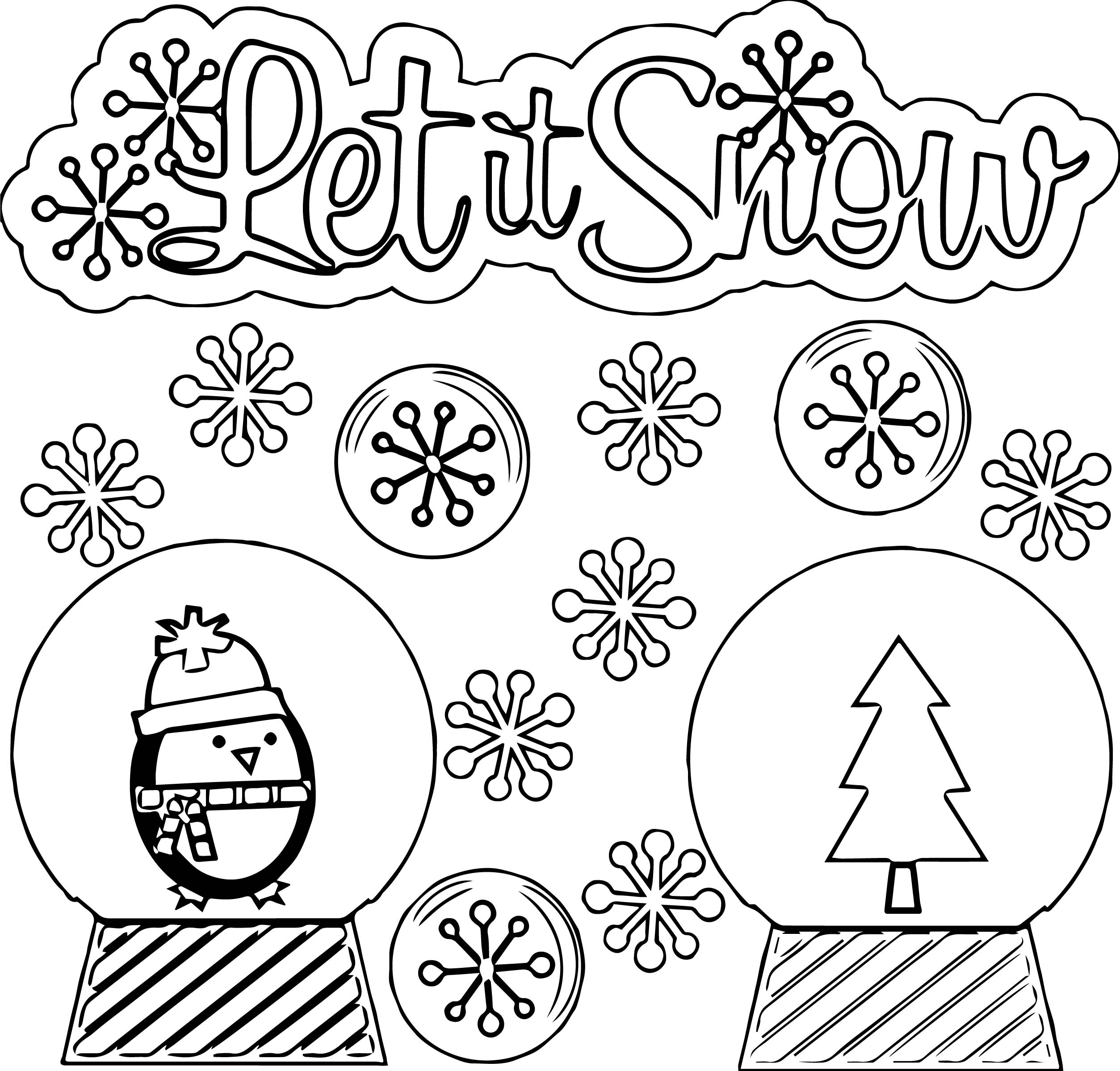 Petit snow winter coloring page for Winter time coloring pages