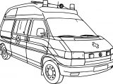 Picture Of Ambulance Coloring Page