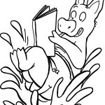 Pig Read A Book Summer Coloring Page