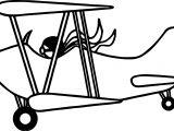 Pilot Plane Coloring Page