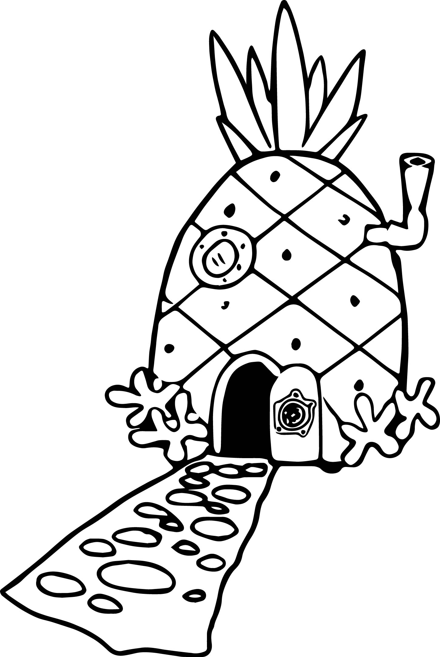 Pineapple House Coloring Page