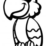 Pirate Parrot Cartoon Coloring Page