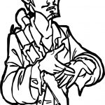 Pirates of the Caribbean Character Man Coloring Page