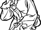 Pirates of the Caribbean Man Character Beautiful Girl Coloring Page