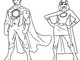 Powered Superheroes Super Hero Girl Boy Coloring Page