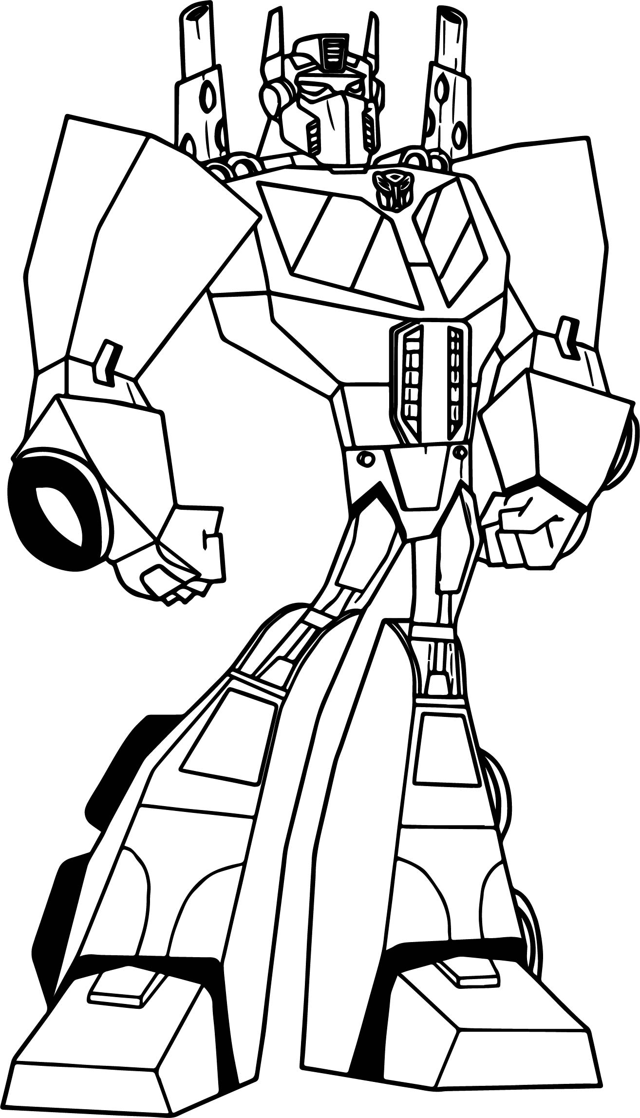Powered transformers coloring page for Transformers animated coloring pages