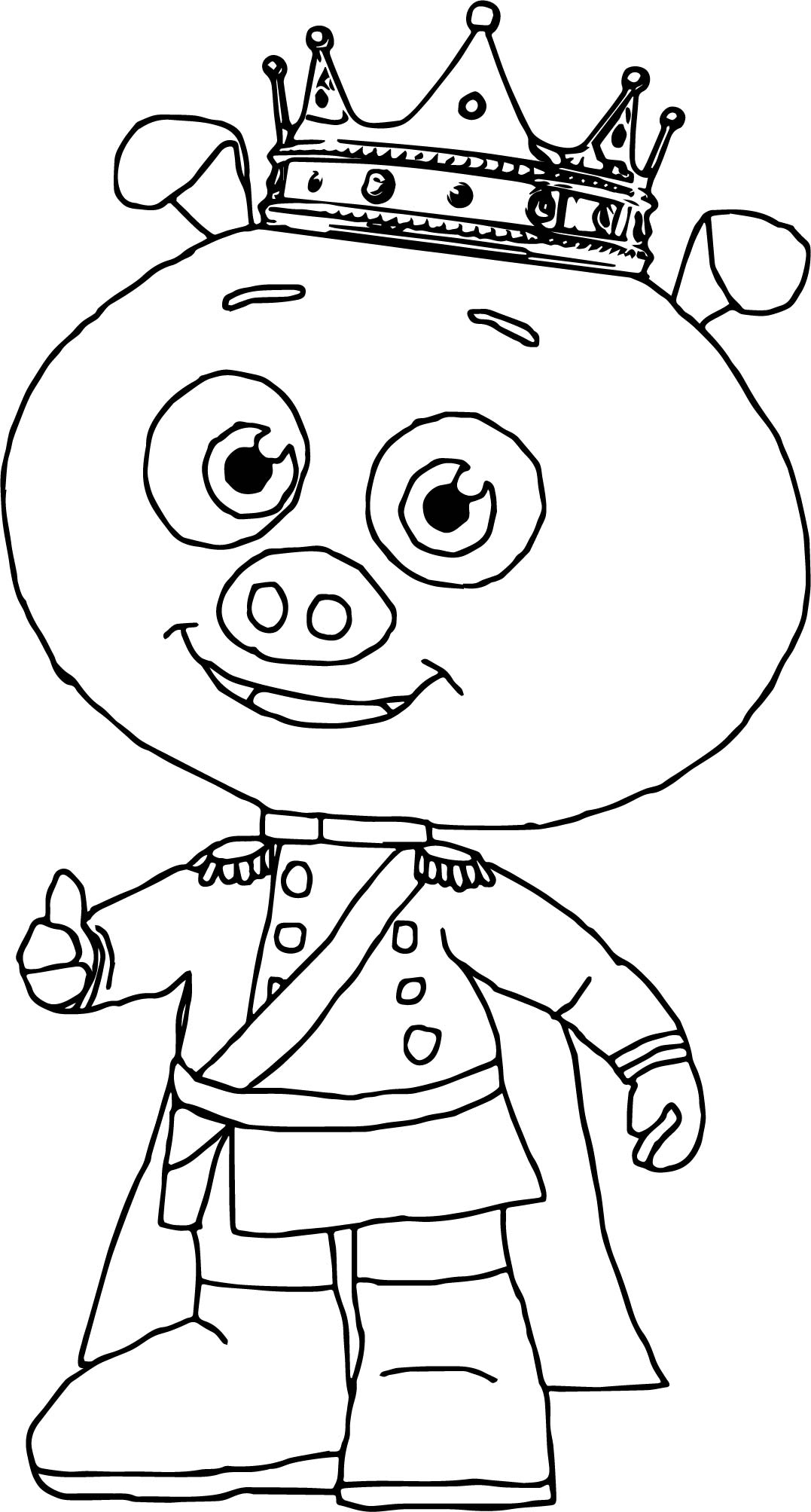 prince pig super why coloring page