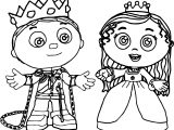 Prince Whyatt And Princess Pea Super Why Coloring Page