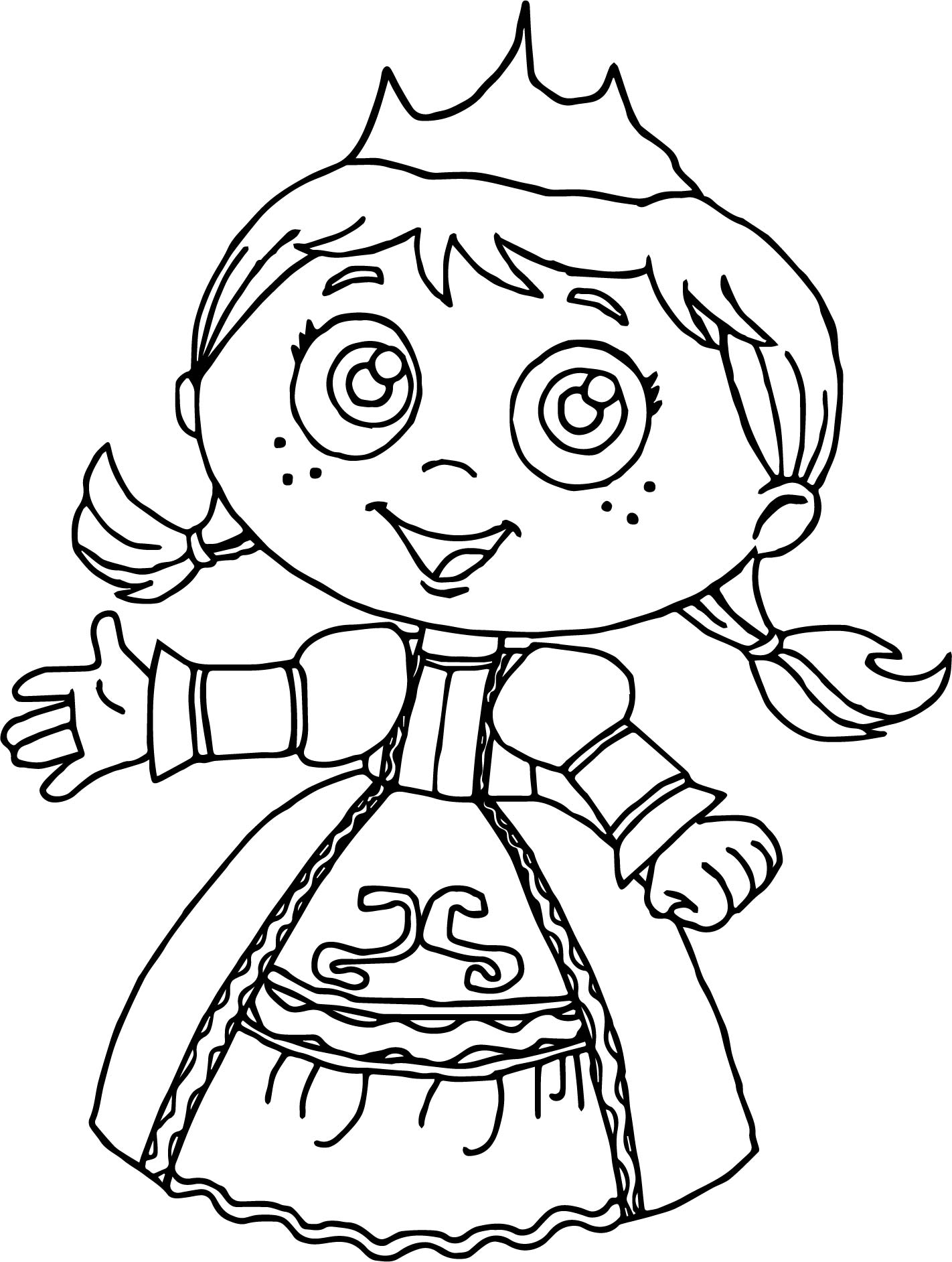 Princess Red Super Why Coloring Page | Wecoloringpage