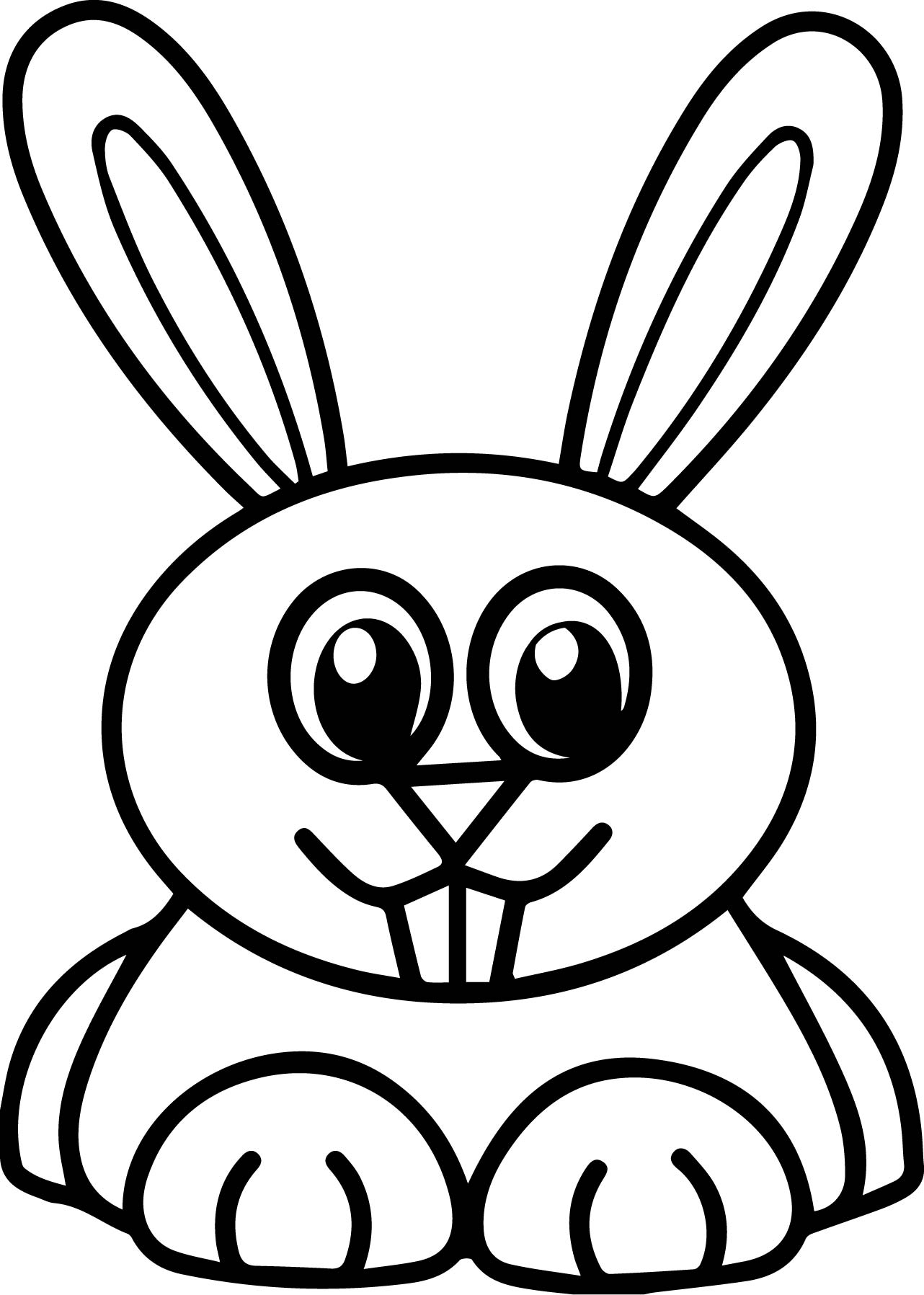 Rabbit Aurore Very Cute Coloring Page