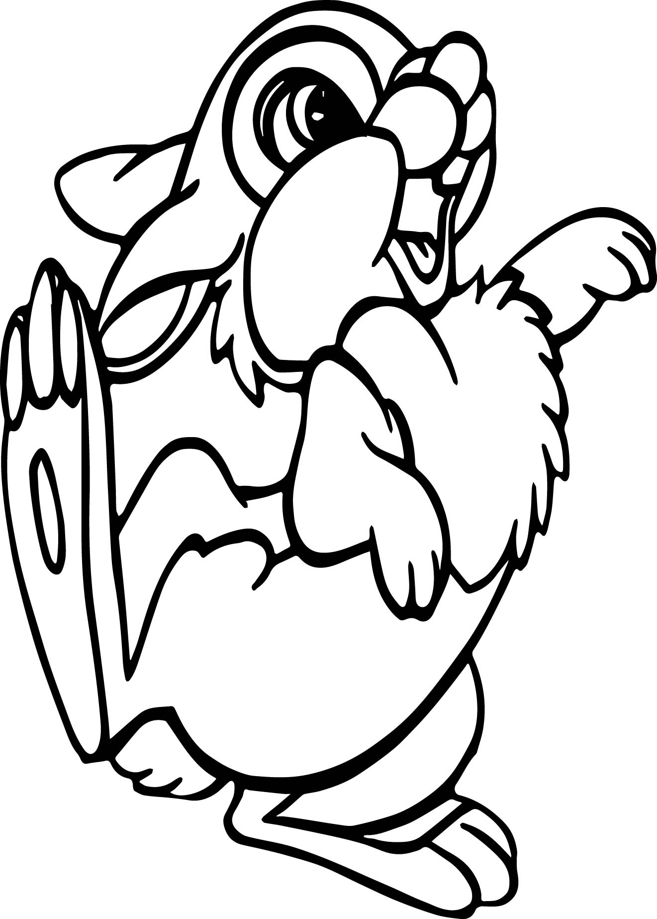 rabbit dance coloring page wecoloringpage
