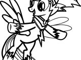 Rainbow Dash Fly Coloring Page